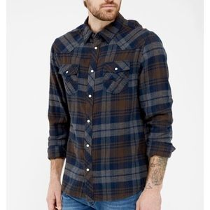 Other - Men's NWT DISTILLERY soft plaid button up shirt